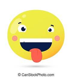 emoji face crazy funny character