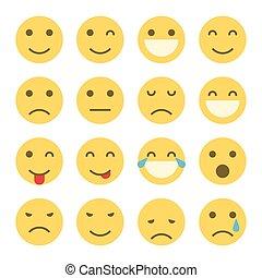 emoji, faces, icônes