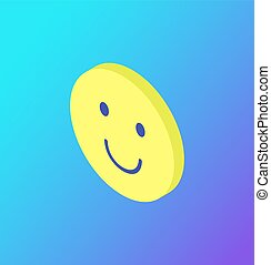 Emoji Facial Expression Icon Smiling Face Vector