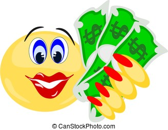 Cartoon hand holding money — Stock Vector © Krisdog #13865472 |Smiley Face Holding Money