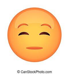 emoji, figure, style, icône, douteux, classique, plat