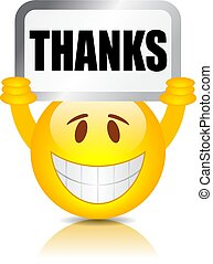 Emoji holding thanks sign