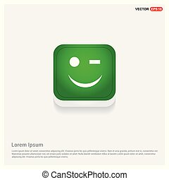 Emoji icon Green Web Button