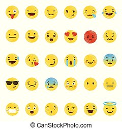Emoji icons set vector