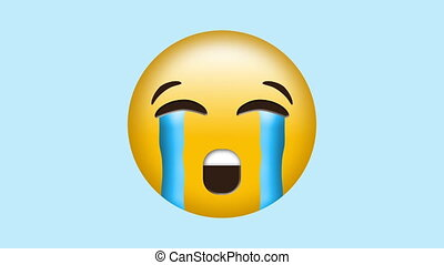 emoji, ruisseler, larmes, pleurer