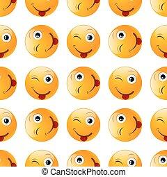 emoji, sonrisa, seamless