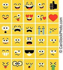 Emoji square pack. Set