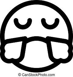 emoji, vapeur, nez