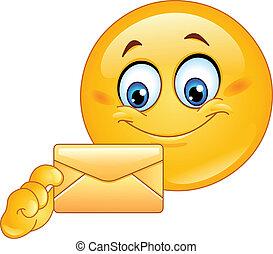 emoticon, à, enveloppe