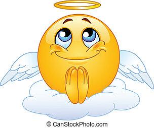 emoticon, ängel