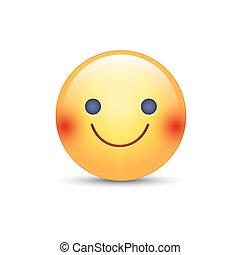 Emoticon émotion Mood Joie Face Jaune Dessin Animé