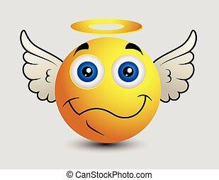 emoticon , ευτυχισμένος , smiley , άγγελος , emoji
