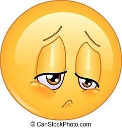 emoticon , λύπη