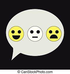 emoticon, シンボル, セット, illustration., アイコン, 隔離された, 背景, ベクトル, emoji
