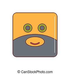 emoticon, 圖象, 卡通, 風格