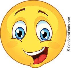 emoticon, 幸せに微笑する