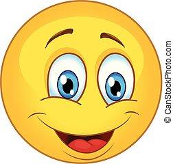 emoticon, 微笑, ベクトル