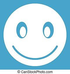 emoticon, 微笑, 白