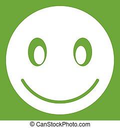 emoticon, 微笑, 緑