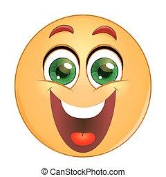 emoticon, 微笑