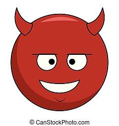 emoticon, 悪魔, チャット
