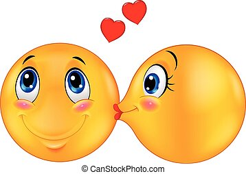 emoticon, 接吻, 漫画