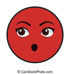 emoticon, 漫画, チャット