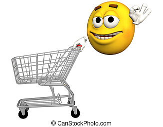 emoticon, 购物车