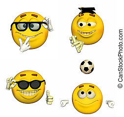 emoticon, 4of9, -, satz