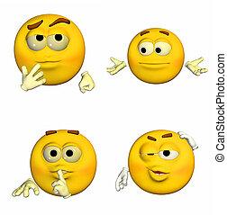emoticon, 9of9, -, パック
