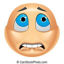 Emoticon afraid