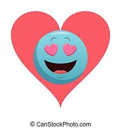 emoticon, amor, bolha