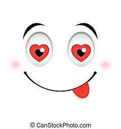 emoticon, amor, sinal