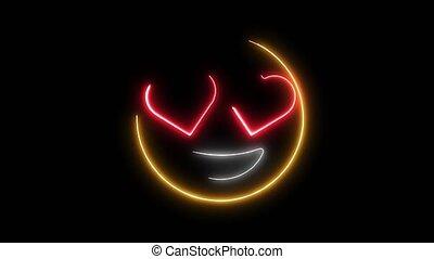 emoticon, amour, sourire, animation, vidéo