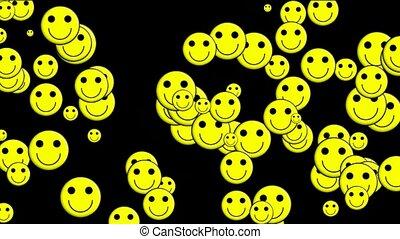 Emoticon Animation: smile face - Emoticon Animation: yellow...