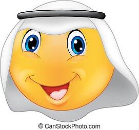 emoticon, arabiska, smiley, tecknad film