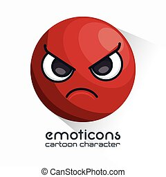 emoticon, arrabbiato, faccia, icona