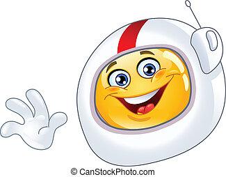 emoticon, astronauta