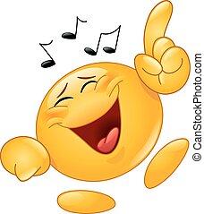 emoticon, bailando