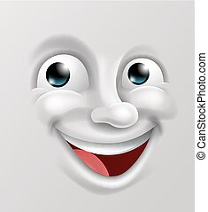 emoticon, boldog, karikatúra, arc