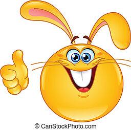 emoticon, bunny