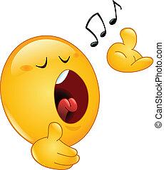 emoticon, cantando