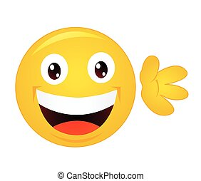 emoticon, caractère, dessin animé, jaune