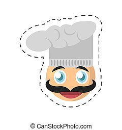 emoticon, chef cuistot, comique, image