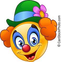 emoticon, clown