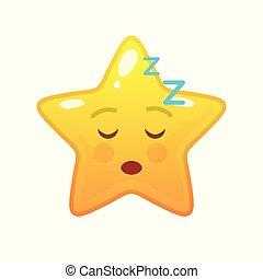 emoticon, comique, dormir, a vedette formé