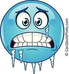 emoticon, congelación