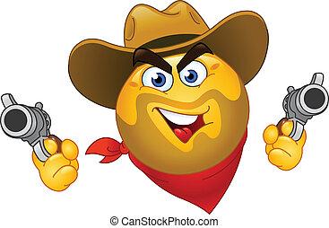 emoticon, cowboy