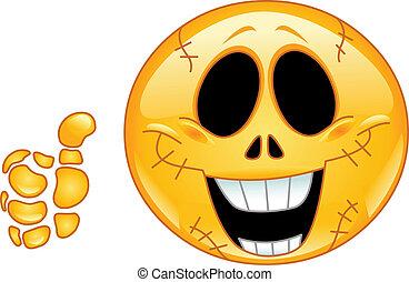 emoticon, cranio