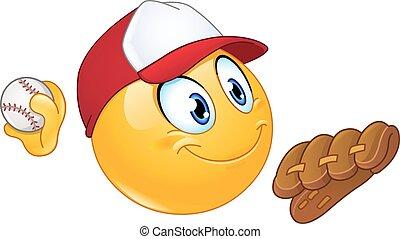 emoticon, cruche base-ball